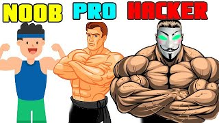 Slap Kings Noob Vs Pro Vs Hacker