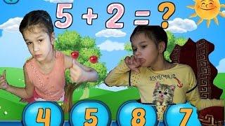 Урок  математики с ребенком  ДЦП :) Детский канал:)
