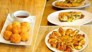 3 обалденные закуски для посиделок. Быстро, сытно, вкусно, просто и легко!