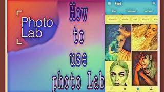 How to use Photo Lab, Picture Editor frames.