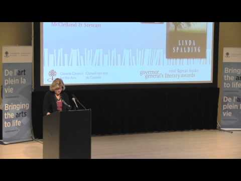 Linda Spalding, 2012 Canada Council laureate - Governor General's Literary Awards