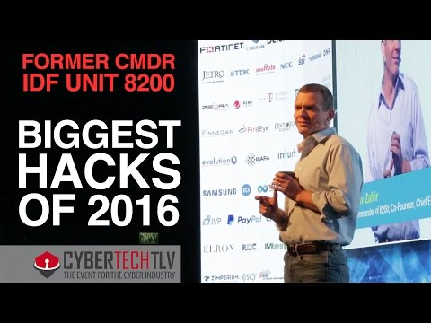 CYBERTECH 2017 ▶︎ The Biggest Hacks of 2016 with Nadav Zafrir