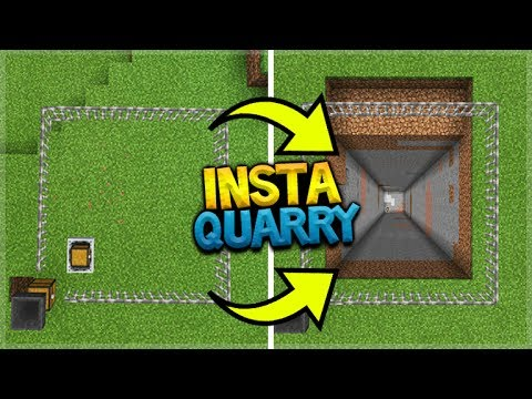MINECRAFT POCKET EDITION - HOW TO MAKE A HUGE QUARRY IN 30 SECONDS!