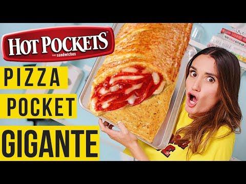 HOT POCKET GIGANTE !/ PIZZA / DANI FLOWERS