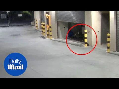 Does this CCTV capture 'janitor' ghost throwing a broom? - Daily Mail