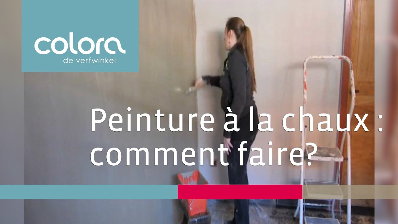 peinture a la chaux technique de la brosse comment faire youtube. Black Bedroom Furniture Sets. Home Design Ideas