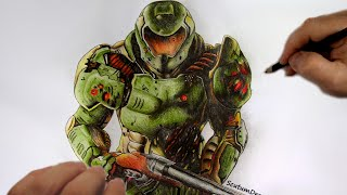 Doom Marine - Speed Drawing - How To Draw - DOOM