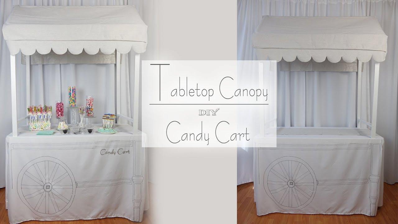 Candy Bar Canopy Tabletop Cart