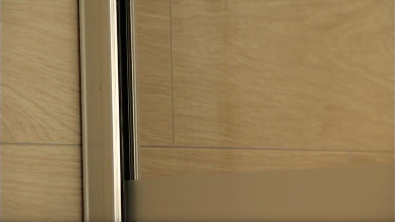 Wandklemmprofil Fur Walk In Dusche Montieren Youtube