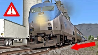 AMTRAK TRAIN FOR THE WORST TRACKS IN THE WORLD!⚠️❗