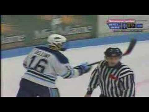 Maine Mercyhurst scrum Hockey East