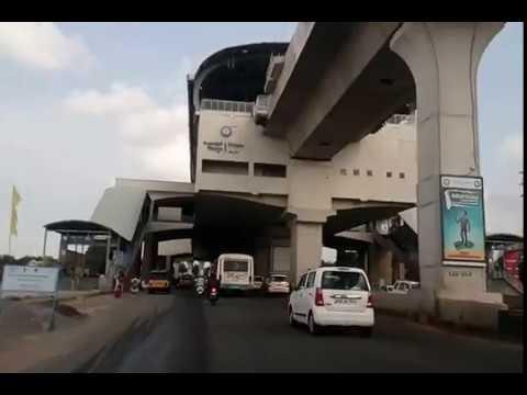 Hyderabad Metro Rail Openeng Area-Latest Position as on 09.10.2017-Miyapur-Hyderabd-India