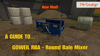 Farming Simulator 17 PS4: A Guide to... GOWEIL RBA - Round Bale Mixer (New Mod)