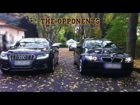 BMW M3 V8 vs  Audi S5 V8 sound