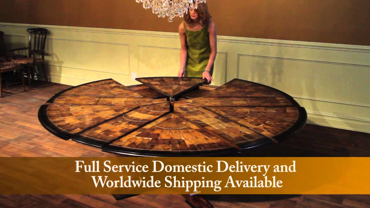 Jupe Tables For Sale, Expandable Round To Round With Self Storing Leaves    YouTube