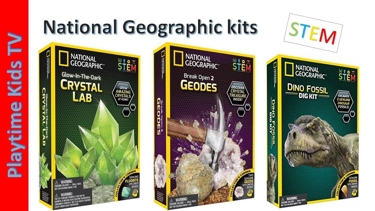 National Geographic Dinosaur Dig Kit Fossils Learning