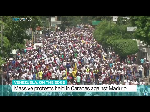 Venezuela On The Edge: Massive protests held in Caracas against president Maduro