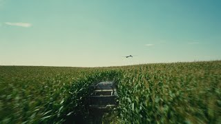 Interstellar - Christopher Nolan - Cornfield Drone Chase Scene [1080P HD]