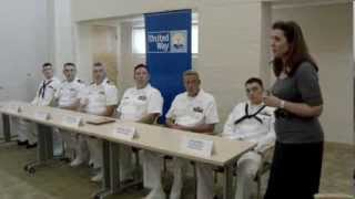 USS Oklahoma City Crew visits United Way of Central Oklahoma