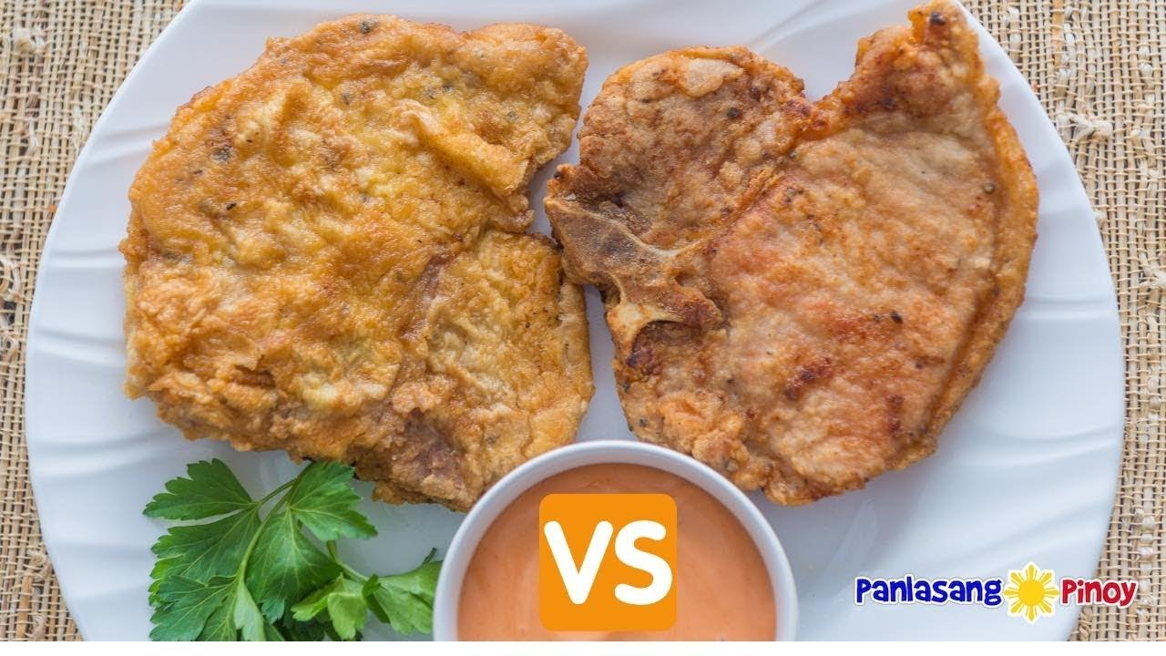 Fried Pork Chop Ano Ang Mas Gusto Mo Lightly Breaded Or Double Coated Youtube