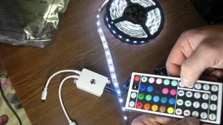 мини обзор светодиодной ленты на диодах 5050 купленных в китае(Моя группа в контакте http://vk.com/posulkialexey небольшой обзор недавно купленной мною светодиодной ленты на диодах..., 2013-12-18T18:54:35.000Z)