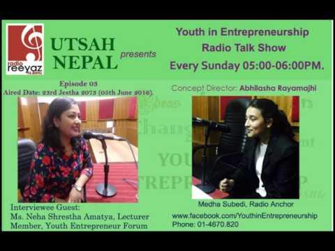 Ms. Neha Shrestha Amatya, Member, Young Entrepreneur Forum, Nepal Chamber of Commerce, Kathmandu