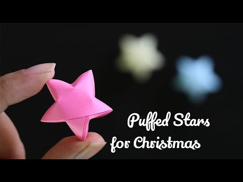 How to make Origami lucky star - How to Make 3D Paper Star for Christmas decorations
