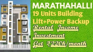 Rental Income 19 Units Independent Building for Sale in Marathahalli Bengaluru