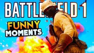 Battlefield 1 Funny Moments - Kamikaze Pilot, Funny Fails, Dumb Enemies! (Funny Moments)