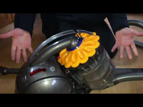 How to empty the dust compartment Dyson DC33c filter cleaning Dyson Ball Multifloor Canister Vacuum