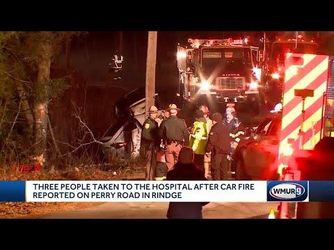 Three teens injured in fiery crash in Rindge