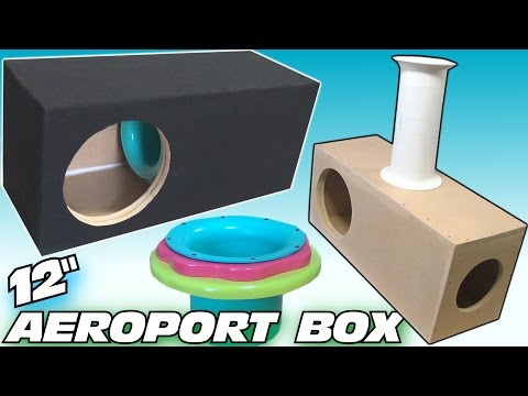 "How To BUILD a Subwoofer BOX w/ 12"" Ported Sub Enclsoure DESIGN & Custom Adjustable Aero Port"