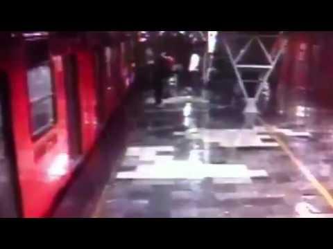 Choque de trenes en Metro Oceanía
