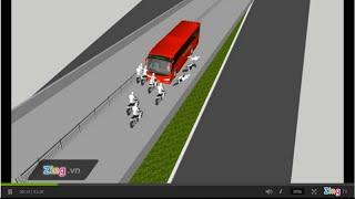 video vụ tai nạn xe phương trang hất tung người xuống cầu