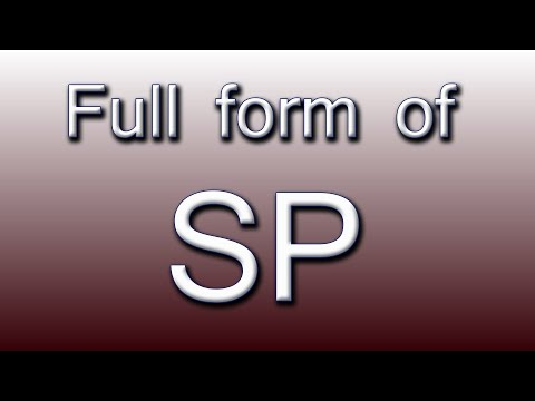 Full form of SP