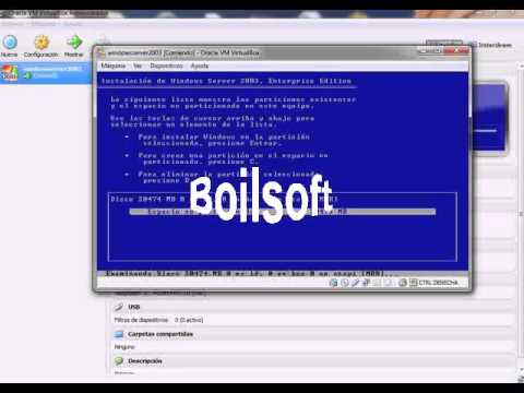 Instalacion de Windows Server 2003(Recuperacion 2 bloque)