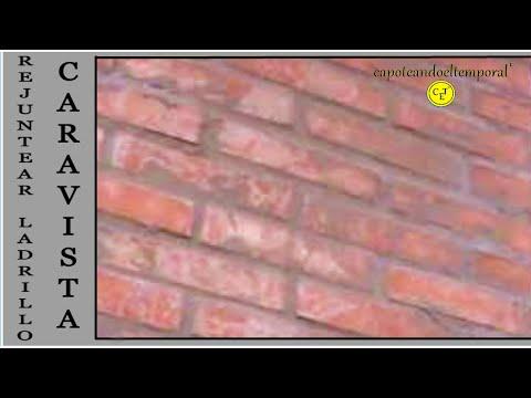 rejuntear o rellenar juntas en ladrillo de caravista facing brick rejuntear youtube