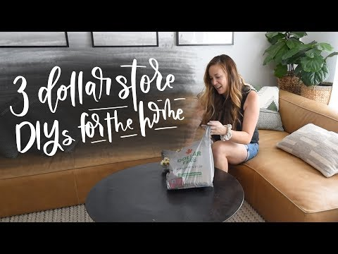 Dollar Tree DIY Challenge: 3 Dollar Store DIY Upgrades For Your Home Decor! (2019)