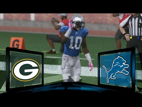 Madden NFL 17 Detroit Lions Franchise- Year 2 Game 8 vs Green Bay Packers