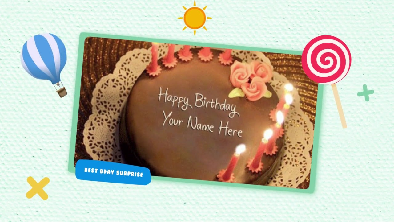 Birthday Cake With Name Generator Lovenamepix Com Youtube