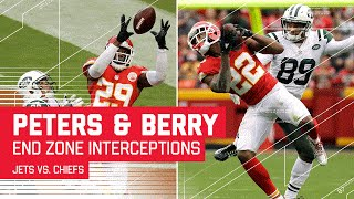 Eric Berry & Marcus Peters Both Snag End Zone INTs! | Jets vs. Chiefs | NFL