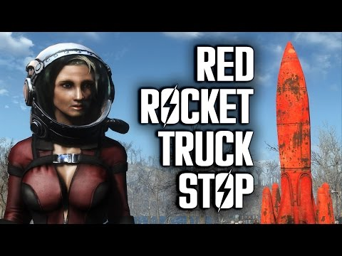 "Red Rocket Truck Stop ""Lived-In"" Settlement Build - Fallout 4 Settlements"