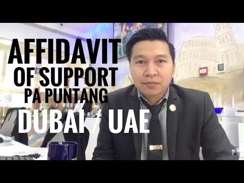 AFFIDAVIT OF SUPPORT PA PUNTANG DUBAI or UAE? (via FB Live!)
