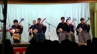 平成23年11月4日、姪浜住吉神社にて基栄会による演奏.
