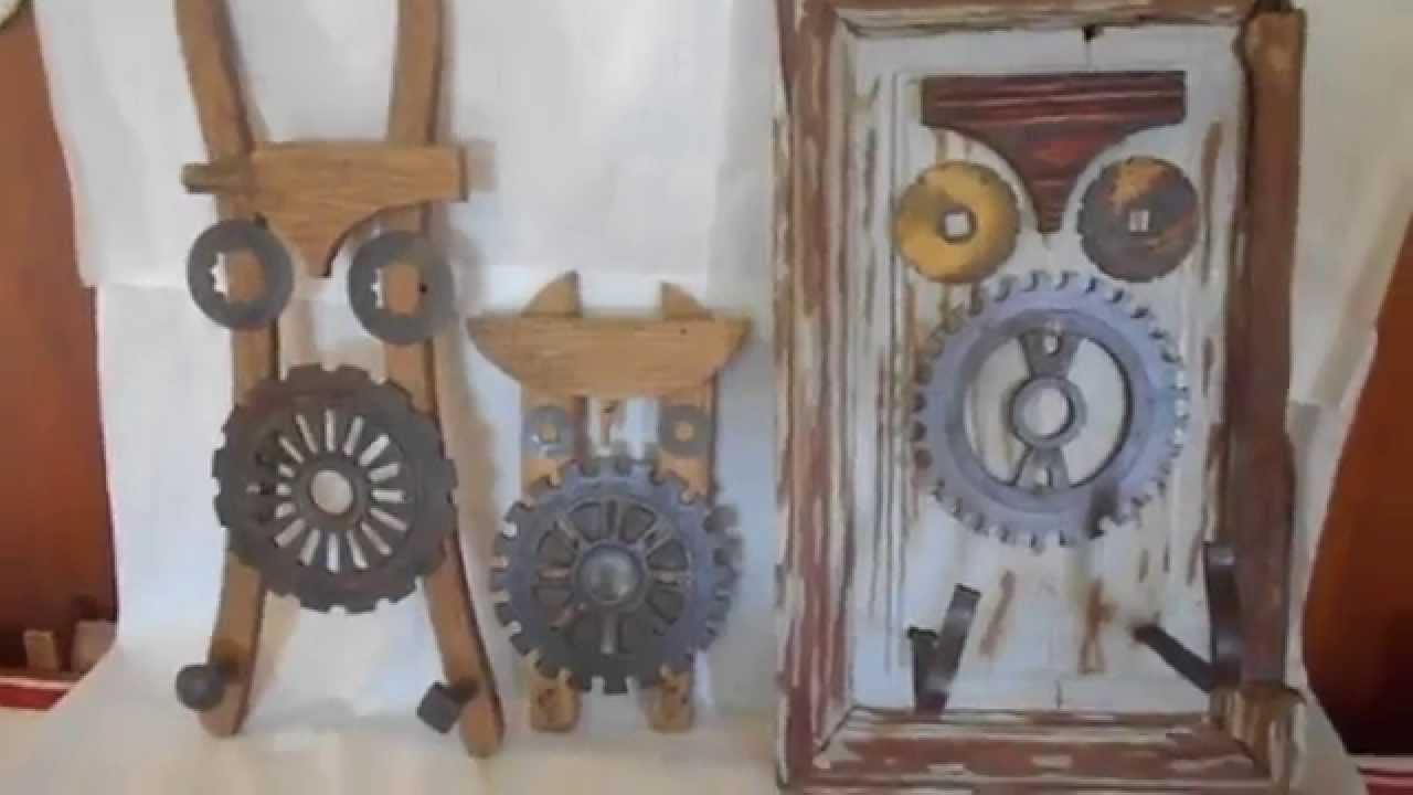 Percheros y porta llaves rusticos de buhos youtube - Percheros de madera rusticos ...