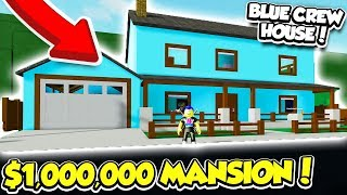 BUILDING A MASSIVE BLUE CREW MANSION IN ROBLOX!! *I BOUGHT EVERYTHING*