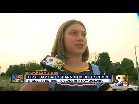 First day of school at Ballyshannon Middle School