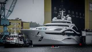 Launch of Project Jupiter superyacht at Lürssen