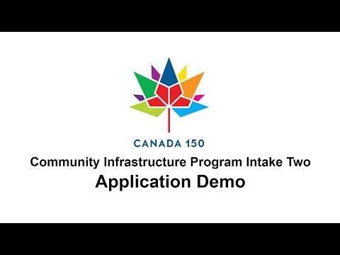 Canada 150 Community Infrastructure Program - Application Demo