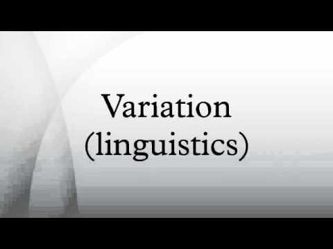 Variation (linguistics)